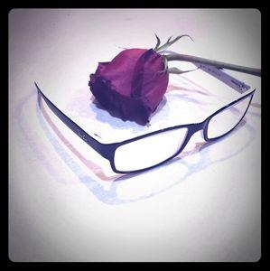 Rayban eyeglasses plastic black & white 52mm 16mm